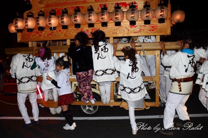 西条祭り2011 西新町だんじり(屋台・楽車) 伊曽乃神社祭礼 後夜祭 マルヨシセンター西条店