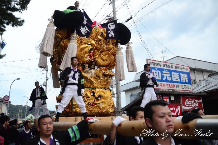 新居浜太鼓祭り 八幡神社前 垣生本郷太鼓台 川東西部地区