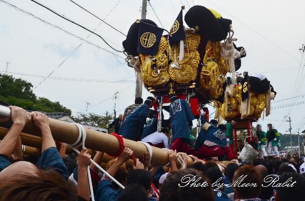 新居浜太鼓祭り 浮島太鼓台 vs 宇高太鼓台の鉢合わせ