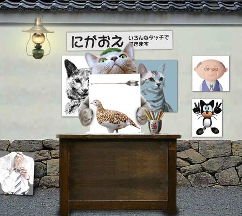 似顔絵猫14