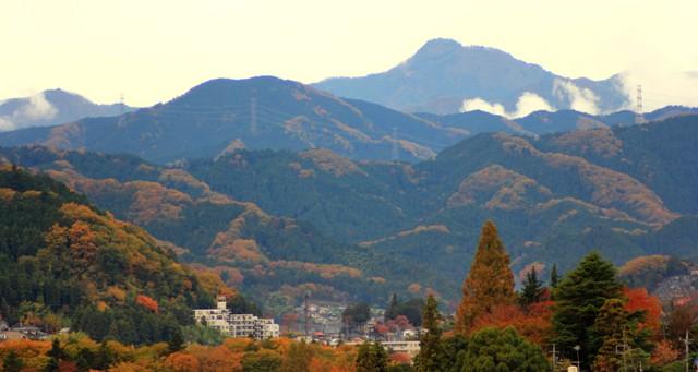 晩秋の御岳山
