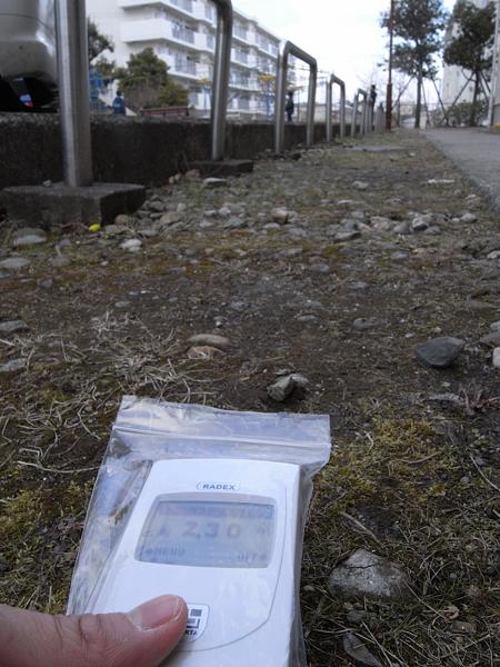 駐車場放射線量120407