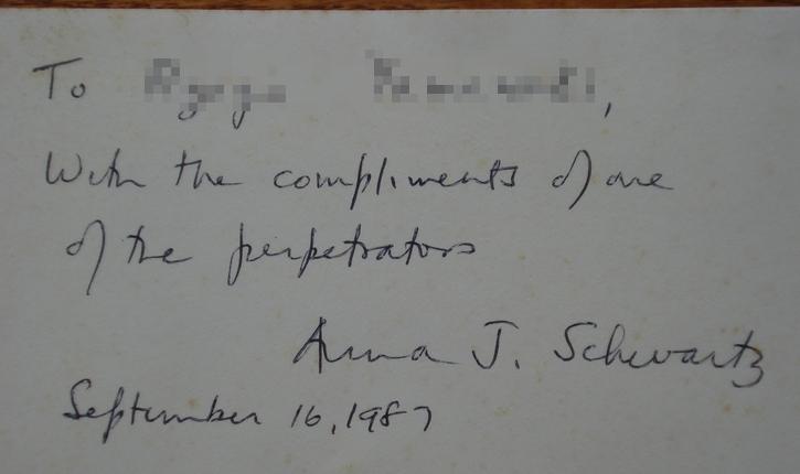 シュワルツ先生のサイン