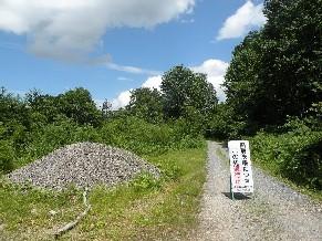 広沢林道赤岩支線入り口