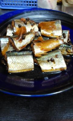 141020秋刀魚の有馬煮