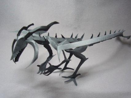 切り折り紙 ドラゴン