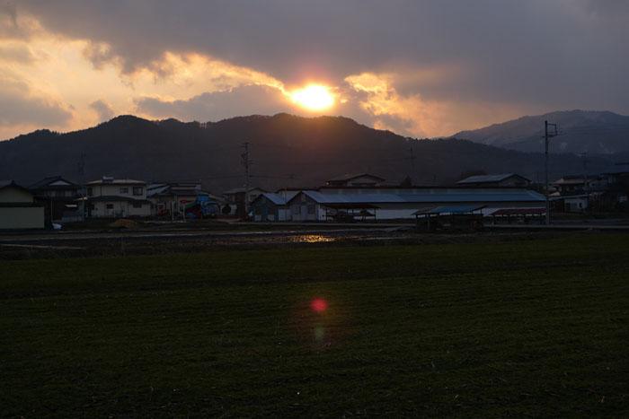 夕陽 ひだ 高山
