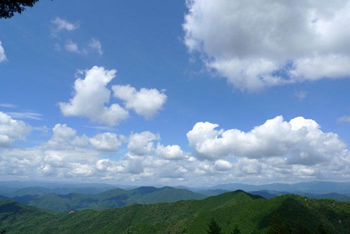 山頂からの眺め 大山 白川町