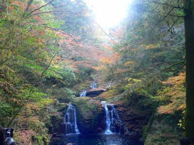 写真キャプション=「赤目四十八滝」の最大の見所でよくカレンダーなどに使われる「荷担滝」。気合が入りすぎて撮影には失敗した