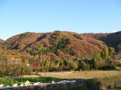 12月4日に盆栽を見に行った大阪府池田市の山並み
