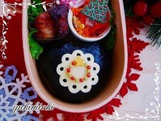 ぺたりとクリスマスリーズのデコ弁☆アップ
