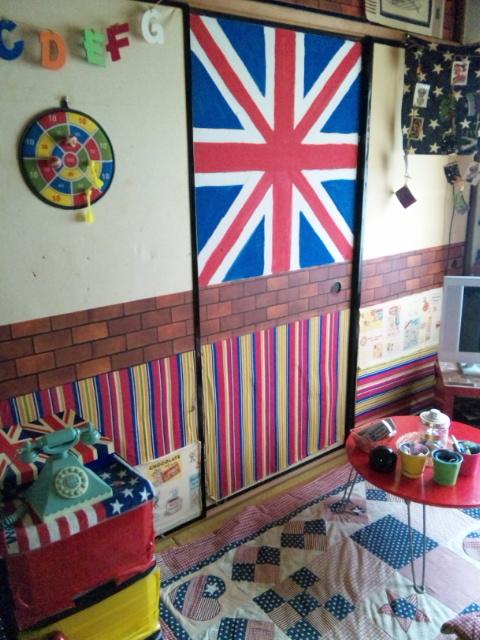 部屋イギリス国旗