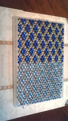 コンパクトミラー ブルー系