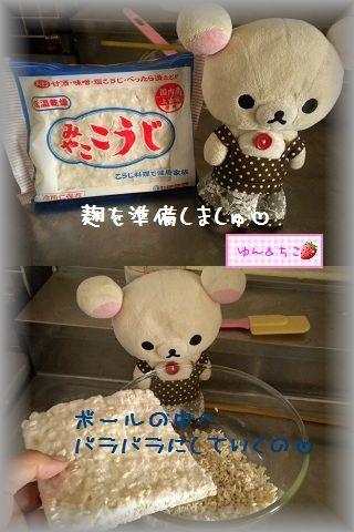 ちこちゃん日記★110★塩麹作ってみました♪-4