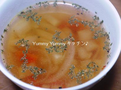 野菜たっぷりコンソメスープ♪