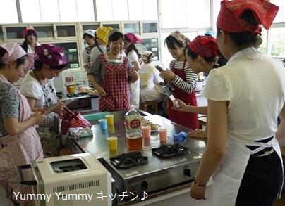 T小学校家庭学級講座 米粉シューできあがり!