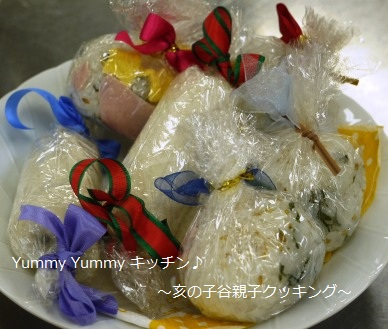 亥の子谷クッキング 20110730すしボール&ロールサンド2