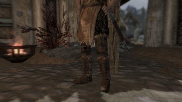 膝に矢を撃ってしまって・・・