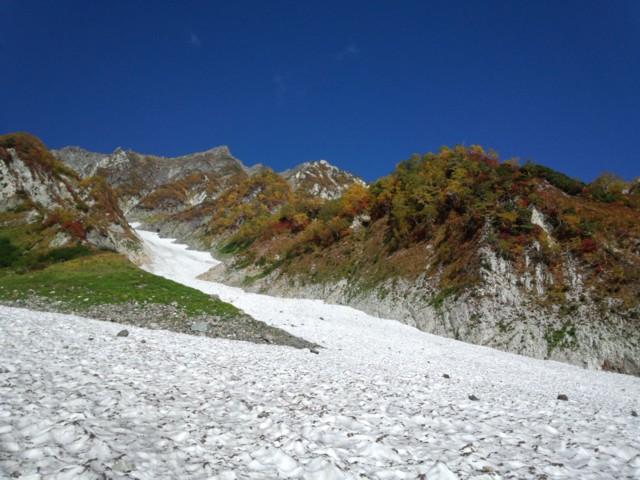9月27日 雪渓と白馬岳