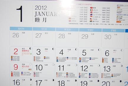 2012年度版FX専用マリンカレンダー