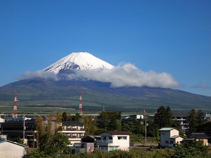朝からくっきり見えた富士山