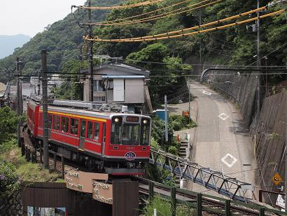 箱根湯本駅近く