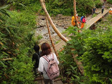 自然園の中を流れる楠川