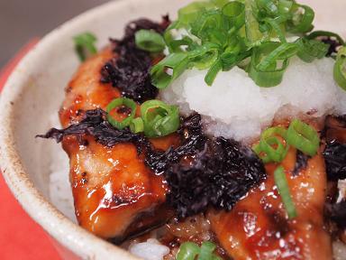 秋刀魚の蒲焼き丼