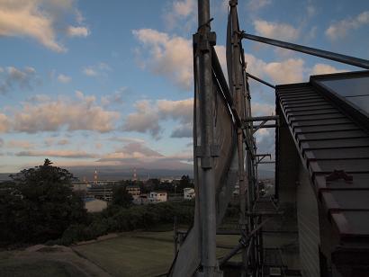 いつもより少し高い所からの富士山