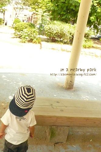 近所の公園で