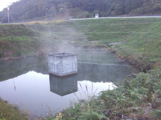 池から湯気!?