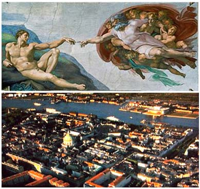 Roma Vatican 01 Collage The Creation of Adam by Michelangelo 02