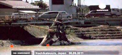 那智勝浦 台風12号タラス