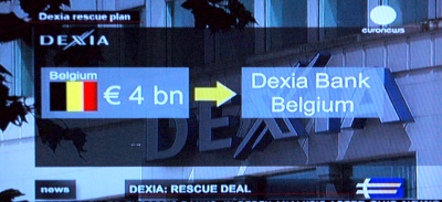 Regering steun aan Dexia