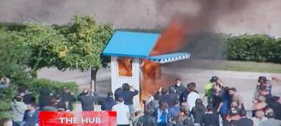 ストライキの火事