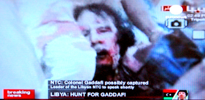 Gadafie dead or capuchard