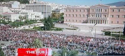 Greece National streik 1