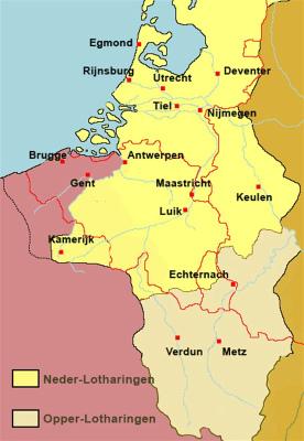Kaart Brabant tijd Hertogdom