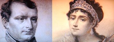 ナポレオンとジョゼフィーネ 写実画