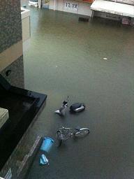 浸水~・・・