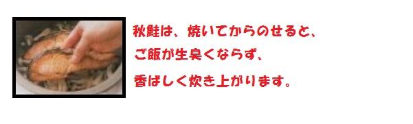 おかず(秋鮭とシメジのごはん)1
