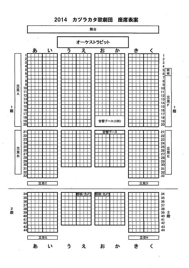 ナポレオン座席表