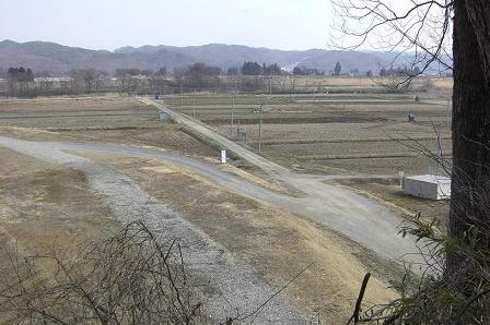 羅須地人協会 跡地のある台地から北上川方面を望む