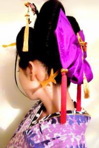 花魁浴衣 ヘアセット