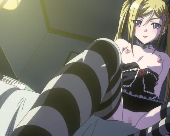 生意気な美少女が言葉責めとニーハイソックス足コキする2次アニメの脚フェチDVD画像1