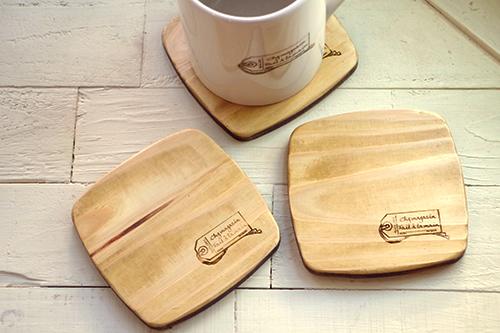 ハンドメイドな福袋*限定デザイン木製コースター