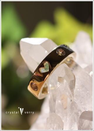 crystal-verry* クリスタルベリー *・オーナーのブログ・*-K18水晶リング ラブリング