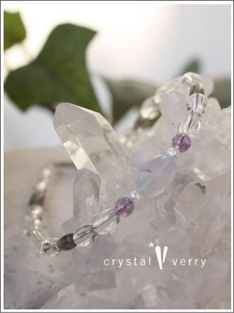 crystal-verry* クリスタルベリー *・オーナーのブログ・*-ブルーレースアゲート ブレスレット