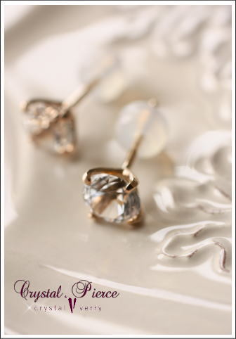 crystal-verry* クリスタルベリー *・オーナーのブログ・*-水晶のピアス クリスタルピアス