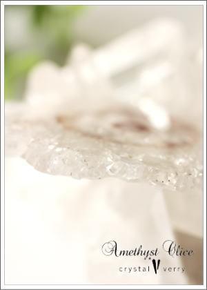 crystal-verry* クリスタルベリー *・オーナーのブログ・*-フラワーアメジストスライス